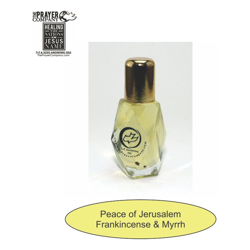 SOZO Oil - Frankincense & Myrrh - Peace of Jerusalem -  1/4oz Diamond Bottle - 100pc