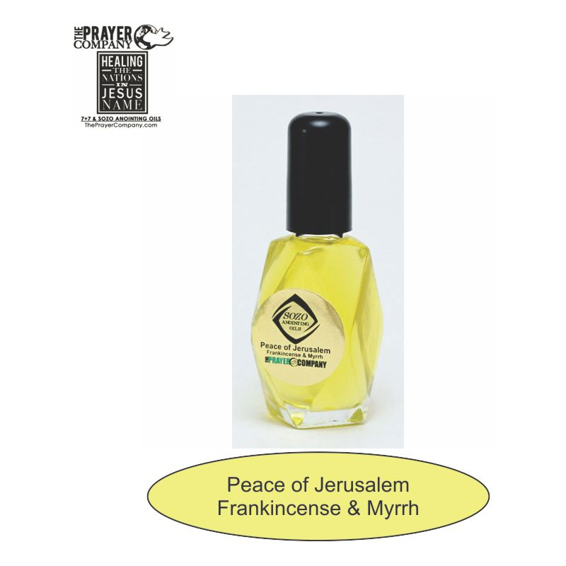 SOZO Oil - Frankincense & Myrrh - Peace of Jerusalem - 1oz Diamond Bottle