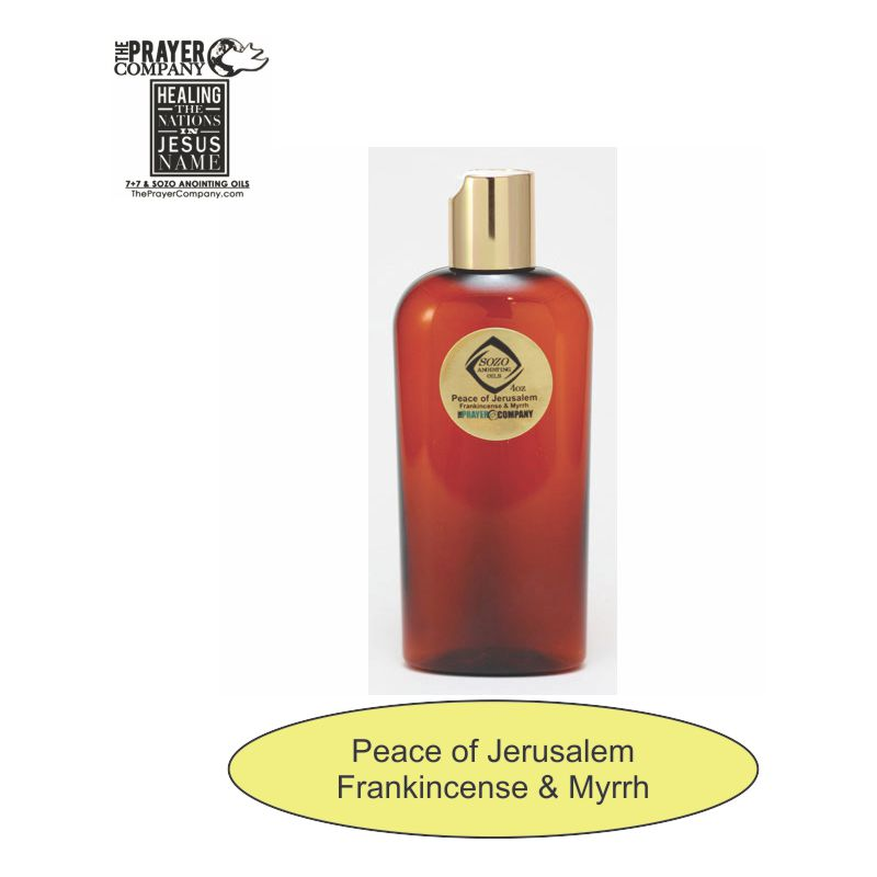 SOZO Oil - Frankincense & Myrrh - Peace of Jerusalem - 4oz Bottle
