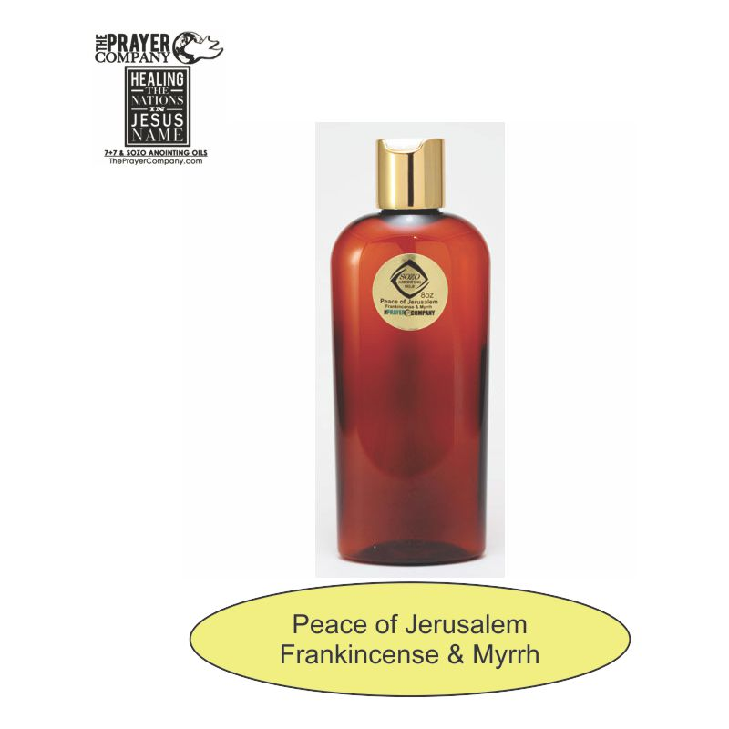 SOZO Oil - Frankincense & Myrrh - Peace of Jerusalem - 8oz Bottle
