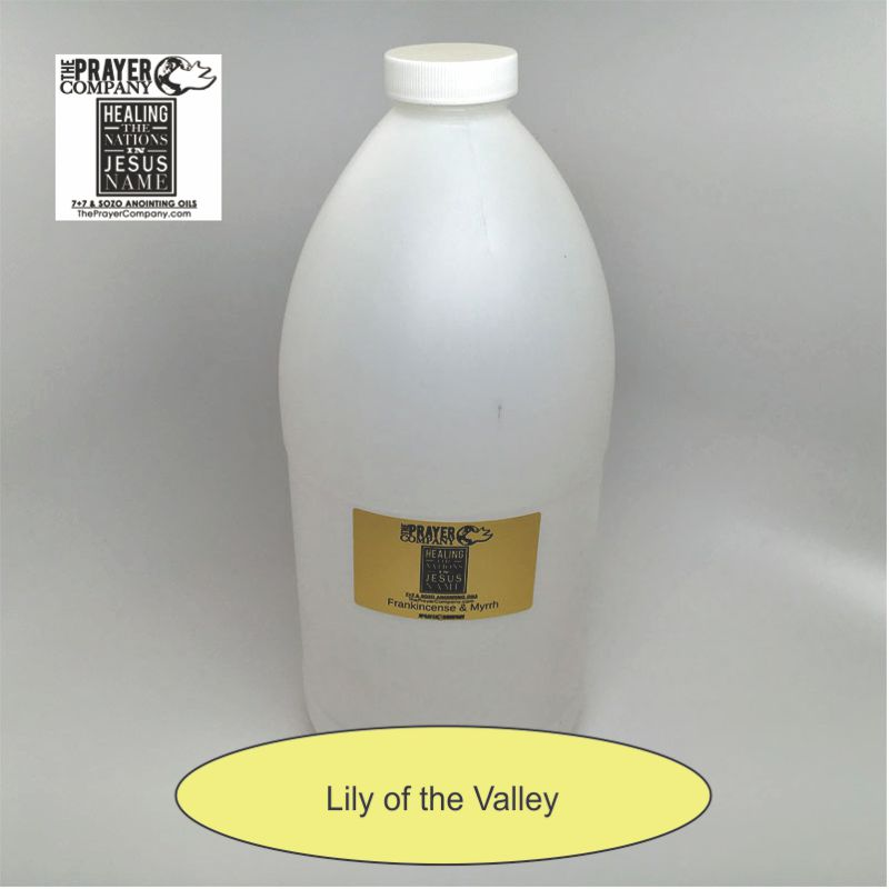 Lily of the Valley Anointing Oil - 1/2 gal Plastic Bottle