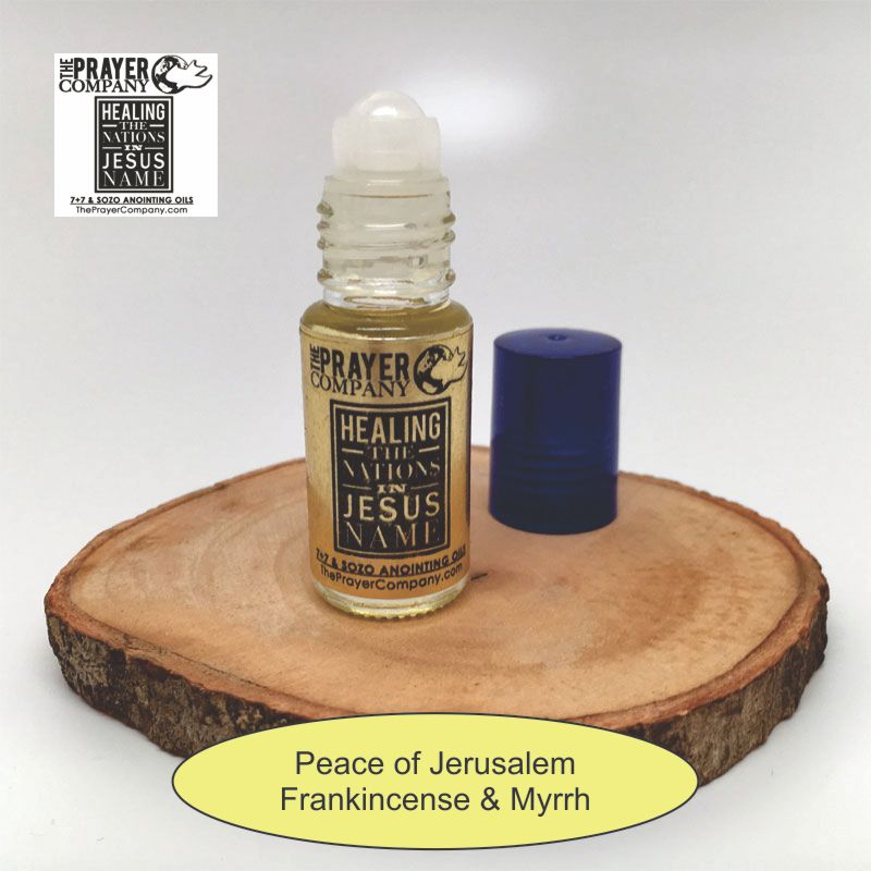 SOZO Oil - Frankincense & Myrrh - Peace of Jerusalem - 1/6oz Roll-on Bottle