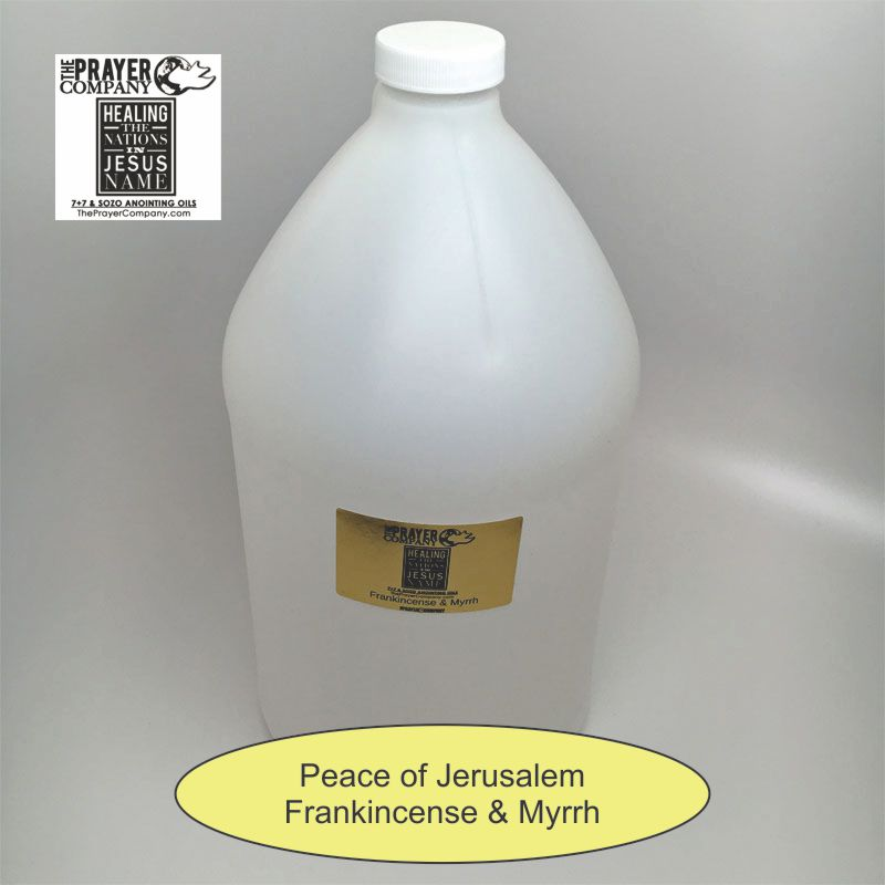 SOZO Oil - Frankincense & Myrrh - Peace of Jerusalem - 1 gal Plastic Bottle