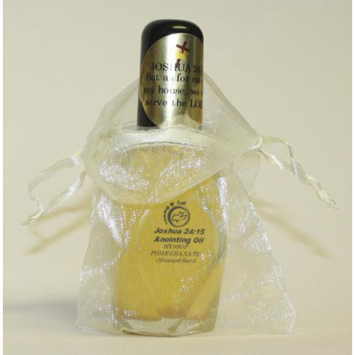Joshua 24:15 Anointing Oil - 1oz Diamond Bottles - Package of 3